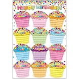 Ashley Productions Smart Poly Chart, 13 x 19, Confetti Happy Birthday, w/Grommet (ASH91047)