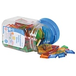 Edx Education Transparent Pattern Plastic Blocks Mini Jar, 120 Pieces/Set (CTU22108)