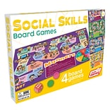 Junior Learning 4 Social Skills Board Games, Early Education Development, Ages 5+ years (JRL426)