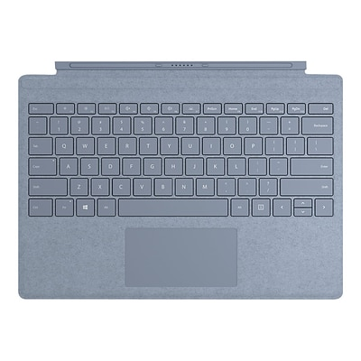 Microsoft Surface Pro Signature Type Cover Keyboard with Trackpad for Surface Pro (Mid 2017), 3, 4, 6, 7, Ice Blue (FFP-00121)