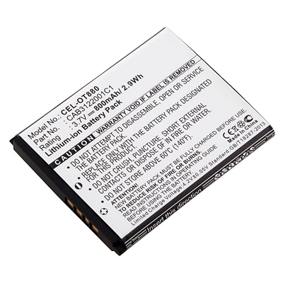 Ultralast 3.7 Volt  Lithium Ion Cell Phone Battery for T-Mobile A-392 (CEL-OT880)