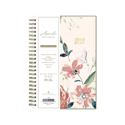 2020-2021 Blue Sky 5.88 x 8.13 Planner, Plum Pretty Sugar, Kiss Mix (120528)