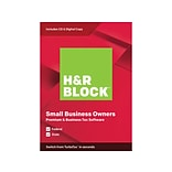 H&R Block Premium & Business Tax Software 2019 for 1 User, Windows, CD/Download (1116600-19)