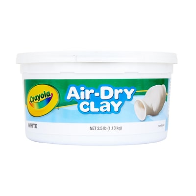 Crayola Air-Dry Clay Bucket, 2.5 lbs, White (57-5050)