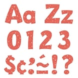 Trend 4in Ready Letters Coral Sparkle (T-79781)