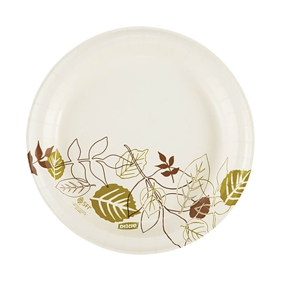 "Dixie Pathways Medium-Weight Paper Plates, 8.5"", 500/Carton (UX9WS)"