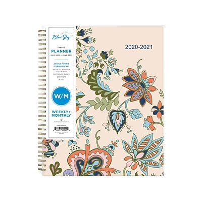 2020-2021 Blue Sky 8.5 x 11 Planner, Fab Floral (117905-A21)