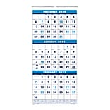2021 House of Doolittle 26 x 12.25 Wall Calendar, Blue (3640-21)