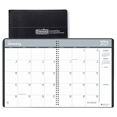 2021-2022 House of Doolittle 8.5 x 11 2-Year Monthly Planner, Black (262002-21)