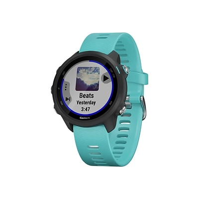 Garmin Forerunner 245 Music Running Watch, Aqua (010-02120-22)