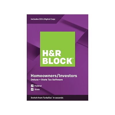 H R Block Deluxe State Tax Software 2019 For 1 User Windows And Mac Cd Download 1336600 19 Quill Com
