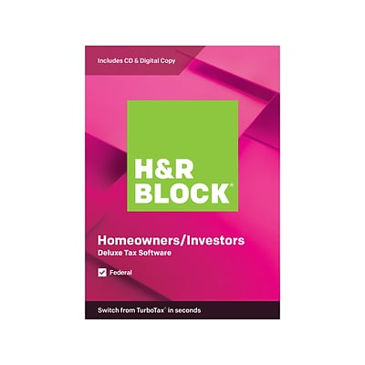 H R Block Deluxe Tax Software 2019 For 1 User Windows And Mac Cd Download 1433600 19 Quill Com