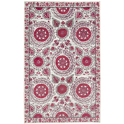 Mohawk Home Strata Suzani Sophisticate Hot Pink Rug (797786017956)