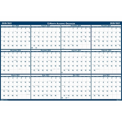 2020-2021 House of Doolittle 18 x 24 Wall Calendar, Academic Classic Reversible, White (3965-21)