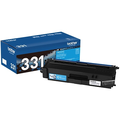 Brother TN-331C Cyan Toner Cartridge, Standard