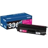Brother TN-336M Magenta Toner Cartridge, High Yield