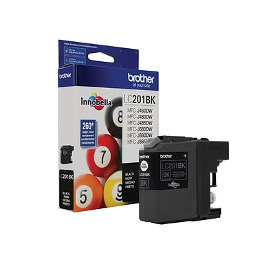 Brother LC 201 Black Ink Cartridge, Standard (LC-201BKS)