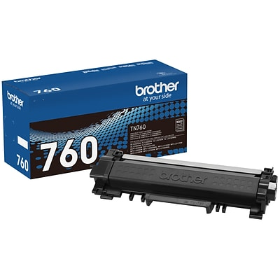 Brother TN-760 Black Toner Cartridge, High Yield