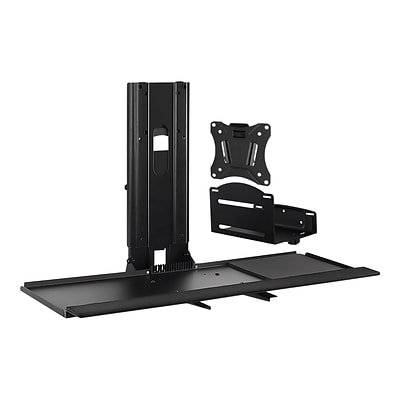 Mount-lt! Adjustable Monitor and Keyboard Wall Mount, Up to 32, Black (MI-7919)