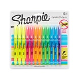 Sharpie Accent Pocket Stick Highlighters, Chisel Tip, Assorted Colors, Dozen (27145)