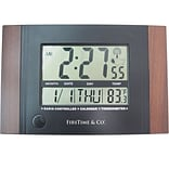 FirsTime 11 x 7.5 Executive Digital Tabletop Clock (31022)
