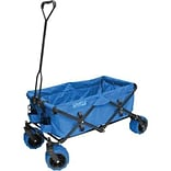 Creative Outdoor Distributor 23 Folding Wagon, Canvas Fabric/Steel Frame, Blue (900285)