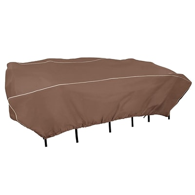 Armor All Zip It! Rectangular Patio Set Cover, 114 x 72 x 30, Brown (07804AA)