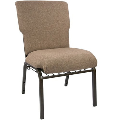 Advantage 21 Mixed Tan Church Chair With Book Rack And Card Pocket Fully Assembled, Pack of 20 (EPCHT-105-20)