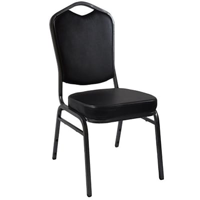 Advantage Black Crown Back Vinyl Banquet Chair (CBBC-V-123)