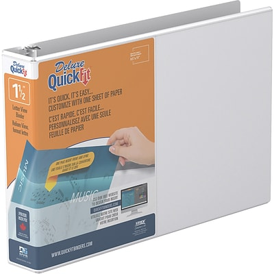 QuickFit Deluxe Heavy Duty 1.5 View Binder, White (97120)