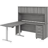 Bush Business Furniture Studio C 71 L-Shaped Desk with Hutch and Storage, Platinum Gray (STC018PGSU