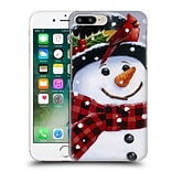 OFFICIAL CHRISTMAS MIX SNOWMAN William Vanderdasson Perched Hard Back Case for Apple iPhone 7 Plus