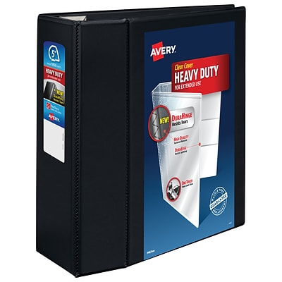 Avery Heavy Duty 5 3-Ring View Binder, Black (79606)