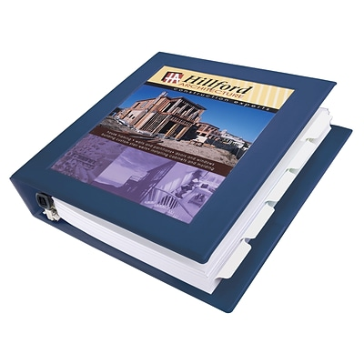 Avery Heavy Duty 1 1/2 3-Ring View Binder, Navy Blue (68059)