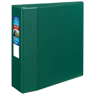Avery Heavy Duty 4 3-Ring Non-View Binder, Green (79784)