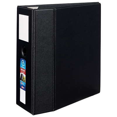 Avery Heavy Duty 5 3-Ring Non-View Binder, Black (79996)