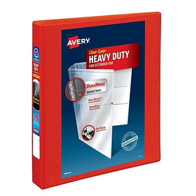 Avery Heavy-Duty 1 3-Ring View Binder, Red (79170)