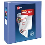 Avery Heavy-Duty 4 3-Ring View Binder, Periwinkle (79329)