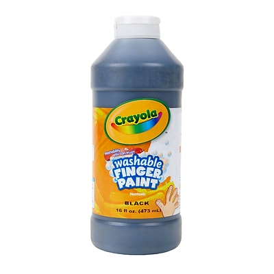 Crayola Washable Fingerpaint, Black, 16 oz. (55-1316-051)