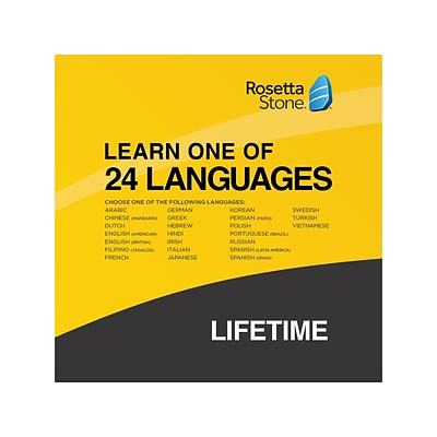 Rosetta Stone Learn One of 24 Languages for 1 User, Windows/Mac/Android/iOS, Online Access (00091386)