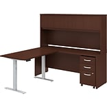 Bush Business Furniture Studio C 71 L-Shaped Desk with Hutch and Storage, Harvest Cherry (STC018CSS