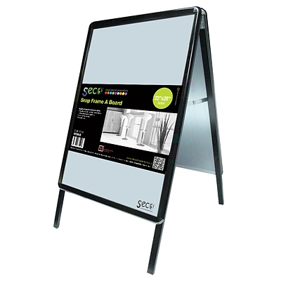 Seco® Snap Frame A-Board Sidewalk Signs, 22 x 28, Black (2228ABBLACK)