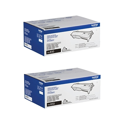 Brother TN8502PK Black Toner Cartridge, High Yield, 2/Pack