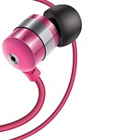 GOgroove Earbuds with Deep Bass & Comfortable Ear Gel Tips (Pink) (3921183)