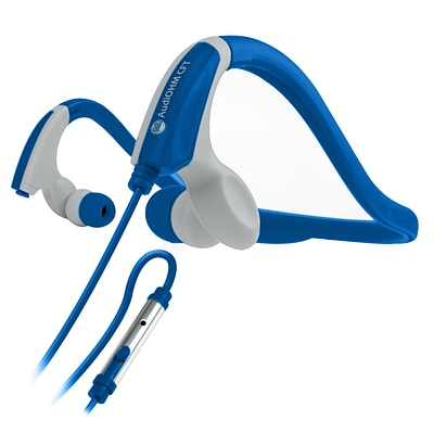 GOgroove CFT Sport Wired Neckband Running Headphones (Blue) (4081773)