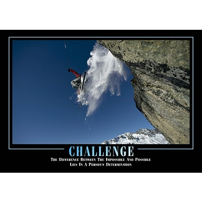 SECO®  Stewart Superior Challenge Framed Motivational Poster, 29 x 21.5, Black Frame (MPI007)