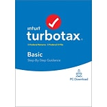 Intuit TurboTax Basic Fed and E-File 2019 for 1 User, Windows, Download (0607292)