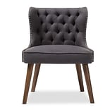 Baxton Studio Scarlett 25.39 W x 24.02 D Accent Chair, Dark Gray (7079-STPL)