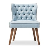 Baxton Studio Scarlett 25.39 W x 24.02 D Accent Chair, Light Blue (7080-STPL)