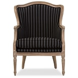 Baxton Studio Charlemagne 26.8 W x 26 D Accent Chair, Black and Gray Stripes (5488-STPL)